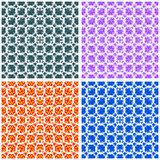 Abstract color pattern collection vector illustration Royalty Free Stock Images