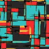 Abstract color pattern in graffiti style. Quality vector illustration for your design stock illustration