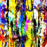 Abstract color pattern in graffiti style. Quality vector illustration for your design Stock Images