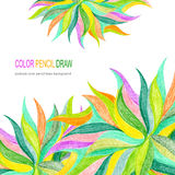 Abstract color pencil draw background Stock Photo