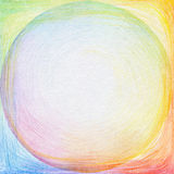Abstract color pencil scribbles background. Royalty Free Stock Photography