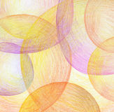 Abstract color pencil scribbles background. Royalty Free Stock Photo