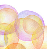 Abstract color pencil scribbles background. Stock Photography