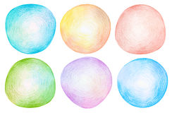 Abstract color pencil scribbles background. Stock Image