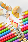 Abstract color pencils Stock Photo