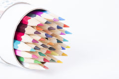 Abstract Color pencils Stock Images