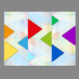 Abstract color pieces of puzzle  graphic Royalty Free Stock Photography
