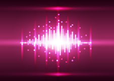 Abstract color pink pixel background, Vector. Illustration innovation technology Stock Image