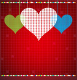 Abstract color pixel heart mosaic background Royalty Free Stock Photo
