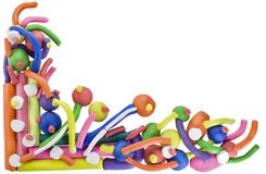 Abstract color  plasticine background Royalty Free Stock Image