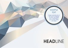 Abstract color polygon background with sample text. EPS10 Stock Photos