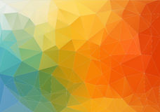 Abstract color polygonal background Royalty Free Stock Photo