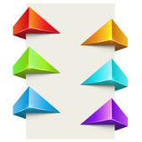 Abstract color polygonal 3D label set Royalty Free Stock Photography