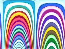 Abstract color rainbow background, curves lines, Royalty Free Stock Photography
