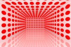 Abstract color red lighting sphere Royalty Free Stock Photography