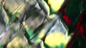Abstract color reflection on rhombus diamond pattern glass surface. Abstract creative background. Blurred beautiful moving colors reflected on the glass of stock footage