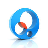 Abstract color round business symbol stock illustration