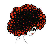 Abstract  Color round hair - Illustration Royalty Free Stock Photography