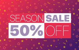 Abstract color sale banner template. Season sale Stock Illustration