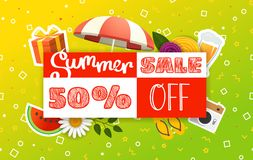 Abstract color sale banner template Stock Illustration