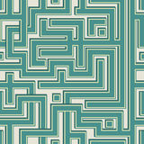 Abstract color seamless pattern resembling a maze Royalty Free Stock Photos
