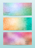 Abstract color set banner background Royalty Free Stock Image