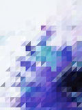 Abstract color shade of purple and white triangles pattern Stock Photos