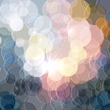 Abstract color shining circles vector background Stock Photography