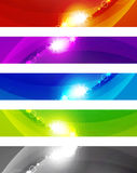 Abstract color shiny banners Royalty Free Stock Photos