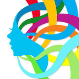 Abstract color silhouette girl Royalty Free Stock Photo