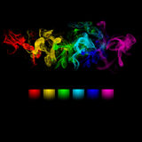 Abstract color smoke design Royalty Free Stock Image
