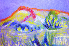 Abstract color soft pastel painting. Royalty Free Stock Images