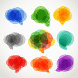 Abstract color speech clouds Royalty Free Stock Images
