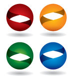 Color sphere icon set Stock Photo