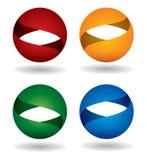 Color sphere icon set Stock Photo