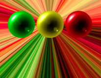 Abstract color spheres Stock Photography