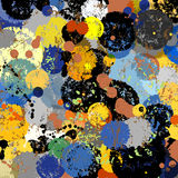 Abstract color splash background,. Abstract background, with paint strokes and splashes stock illustration