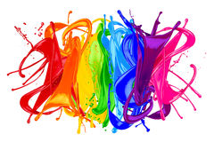 Abstract color splash rainbow Stock Photography