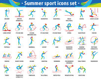 Abstract color sport. Summer olympic games icons set Royalty Free Stock Photo