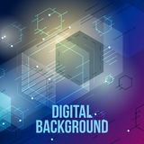 Abstract color square background stock image