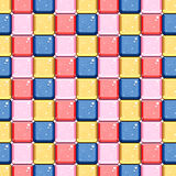Abstract color square pattern with shine effect  Royalty Free Stock Image