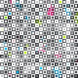 Abstract color squares grunge seamless pattern Stock Images