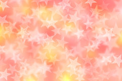 Abstract color and star bokeh background Stock Photos