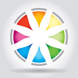 Abstract color star template Royalty Free Stock Photos