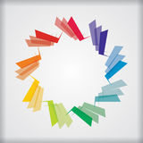 Abstract color star template Stock Photo