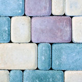 Abstract color stone diversity background, colorful wall constru Royalty Free Stock Photos