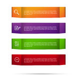 Abstract color tag banner isolated on white background 002 Stock Photography