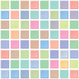 Abstract color tiles vector seamless pattern. Bathroom interior Stock Photo