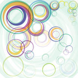 Abstract color transparent circles Stock Photos