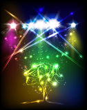 Abstract color tree background Royalty Free Stock Photo